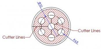 Coaxial Clamp 6Way RG213